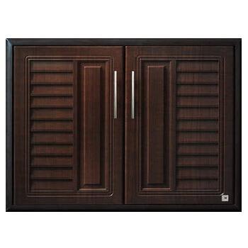บานซิงค์คู่ใต้เตา ABS - King รุ่น Platinum Series Nova(โนวา) สีโอ๊คดำ ขนาด(กว้างxสูงxหนา) 81.7x61.7x8.5 ซม.