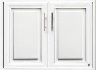 บานซิงค์คู่ใต้เตา ABS - King รุ่น Platinum Series Pearl(เพิร์ล) สีขาว ขนาด(กว้างxสูงxหนา) 81.7x61.7x8.5 ซม.