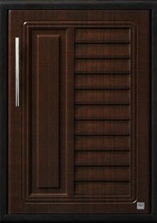 บานซิงค์เดี่ยวใต้เตา ABS - King รุ่น Platinum Series Nova(โนวา) สีโอ๊คดำ ขนาด(กว้างxสูงxหนา) 43.7x61.7x8.5 ซม.