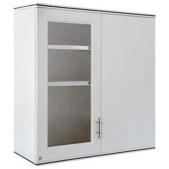 ตู้แขวนเข้ามุม ABS - King รุ่น Grand Platinum Series Zircon(เซอร์คอน) สีขาว ขนาด(กว้างxสูงxหนา) 90x94x34 ซม.