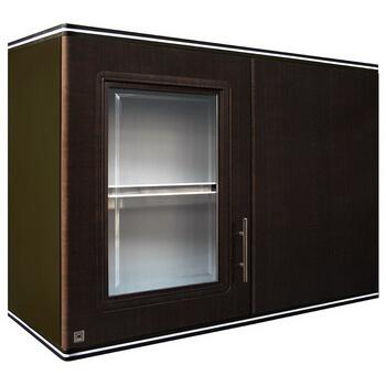 ตู้แขวนเข้ามุม ABS - King รุ่น Platinum Series Zircon(เซอร์คอน) สีโอ๊คดำ ขนาด(กว้างxสูงxหนา) 90x67.8x34 ซม.