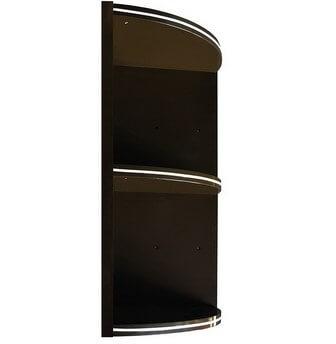 ชั้นจบมุม ABS - King รุ่น Platinum Series สีโอ๊คดำ ขนาด(กว้างxสูงxหนา) 32x67.8x32 ซม.