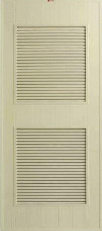 ประตู PVC - Bathic(บาธติก) BS4 สีครีม