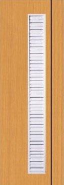 ประตู PVC - Polywood (โพลีวูด) M Series รุ่น PM-3 70x200 ซม. สีออเร้นจ์ทีค