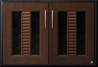 บานซิงค์คู่ ABS - King รุ่น Platinum Series Sapphire(แซฟไฟร์) สีโอ๊คดำ ขนาด(กว้างxสูงxหนา) 96x68.8x8.5 ซม.