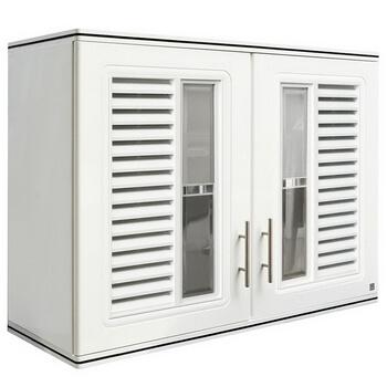 ตู้แขวนคู่ ABS - King รุ่น Platinum Series Nova(โนวา) สีขาว ขนาด(กว้างxสูงxหนา) 90x67.8x34 ซม.