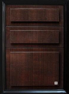 ตู้ลิ้นชัก ABS - King รุ่น Platinum Series สีโอ๊คดำ ขนาด(กว้างxสูงxหนา) 49x68.8x54.5 ซม.