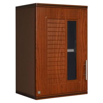 ตู้แขวนเดี่ยว ABS - King รุ่น Platinum Series Nova(โนวา) สีสักน้ำตาล ขนาด(กว้างxสูงxหนา) 45x67.8x34 ซม.