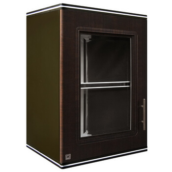 ตู้แขวนเดี่ยว ABS - King รุ่น Platinum Series Zircon(เซอร์คอน) สีโอ๊คดำ ขนาด(กว้างxสูงxหนา) 45x67.8x34 ซม.