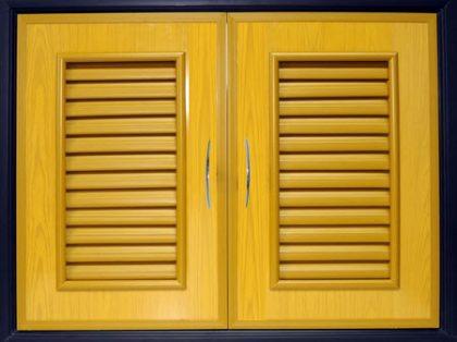 บานซิงค์คู่ PVC - Classic สีลายไม้สักทอง