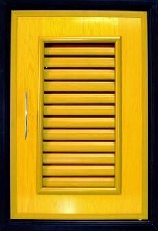 บานซิงค์เดี่ยว PVC - Classic สีลายไม้สักทอง