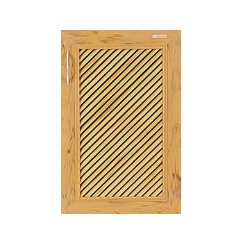 บานซิงค์เดี่ยว WPC - Kaizen ZKW-1-01 สีสักทอง ขนาด(กว้างxสูงxหนา) 41×62.5×9.4 ซม.