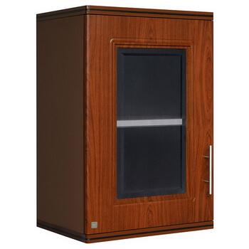 ตู้แขวนเดี่ยว ABS - King รุ่น Platinum Series Zircon(เซอร์คอน) สีสักน้ำตาล ขนาด(กว้างxสูงxหนา) 45x67.8x34 ซม.