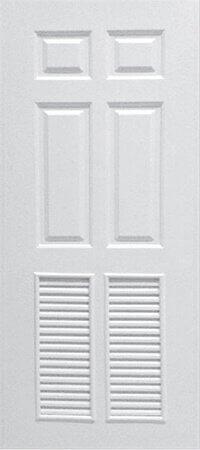ประตู Polywood (โพลีวูด) PLR-003 บานเกล็ด สีขาว