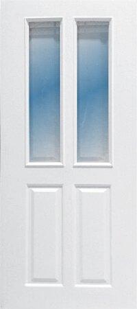 ประตู UPVC - Polywood(โพลีวูด) Revo Series PGR-005 บานกระจก สีขาว