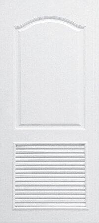 ประตู UPVC - Polywood(โพลีวูด) Revo Series PLR-001 บานเกล็ด สีขาว