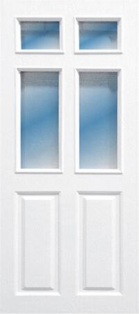ประตู Polywood (โพลีวูด) PG-003 บานกระจก สีขาว