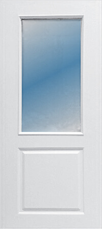 ประตู Polywood (โพลีวูด) PG-004 บานกระจก สีขาว