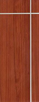 ประตู Polywood (โพลีวูด) Revo Series LPRM-02 บานทึบ-เซาะร่อง สีเรดเชอร์รี่
