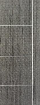 ประตู Polywood (โพลีวูด) LPRM-03 บานทึบ-เซาะร่อง สีเกรย์โอ๊ค