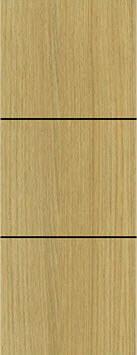 ประตู Polywood (โพลีวูด) Revo Series LPRM-04 บานทึบ-เซาะร่อง สีแทนเมเปิ้ล