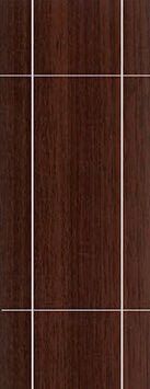 ประตู UPVC - Polywood (โพลีวูด) G-Series LPRM-06 บานทึบ-เซาะร่อง สีบราวน์เวงเก้ 309