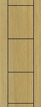 ประตู Polywood (โพลีวูด) Revo Series LPRM-07 บานทึบ-เซาะร่อง สีแทนเมเปิ้ล