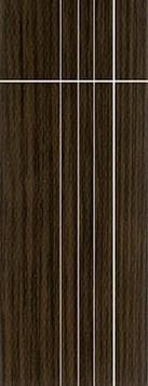 ประตู UPVC - Polywood (โพลีวูด) G-Series LPRM-08 บานทึบ-เซาะร่อง สีบราวน์เวงเก้ 309