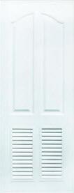ประตู Polywood (โพลีวูด) Special PSW-6 บานเกล็ด-ลูกฟัก สีขาว