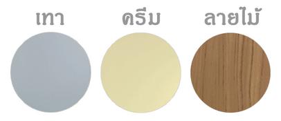 ประตู PVC - Polywood รุ่น Aniti 5 มี 3 สี (เทา, ครีม, ลายไม้)