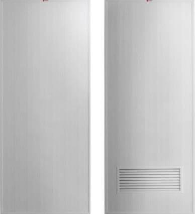 ประตู PVC - Bathic(บาธติค) BS1(บานทึบ), BS2(บานเกล็ดล่าง) สีเทา