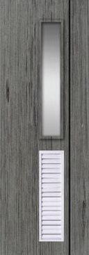 ประตู PVC - Polywood (โพลีวูด) M Series รุ่น PM-5 70x200 ซม. สีเกรย์โอ๊ค