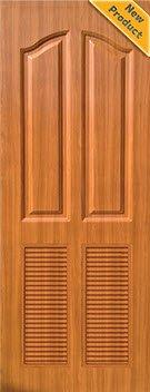 ประตู UPVC - Polywood (โพลีวูด) Revo Series LPLR-006 บานเกล็ด สีน้ำตาล