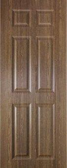 ประตู UPVC - Polywood (โพลีวูด) Revo Series LPNR-003 บานทึบ สีบราวน์เวงเก้ 309