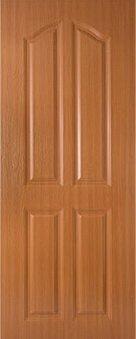 ประตู UPVC - Polywood (โพลีวูด) Revo Series LPNR-006 บานทึบ สีออเรนจ์ทีค