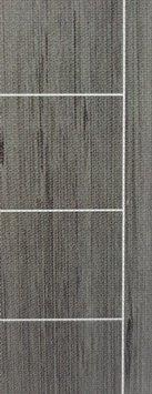 ประตู UPVC - Polywood (โพลีวูด) G-Series LPRM-03 บานทึบ-เซาะร่อง สีเกรย์โอ๊ค