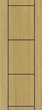 ประตู UPVC - Polywood (โพลีวูด) G-Series LPRM-07 บานทึบ-เซาะร่อง สีแทนเมเปิ้ล