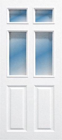 ประตู UPVC - Polywood(โพลีวูด) Revo Series PGR-003 บานกระจก สีขาว
