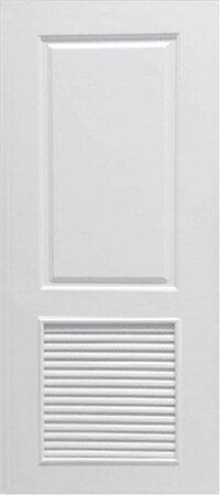 ประตู UPVC - Polywood(โพลีวูด) Revo Series PLR-004 บานเกล็ด สีขาว