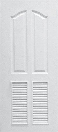 ประตู UPVC - Polywood(โพลีวูด) Revo Series PLR-006 บานเกล็ด สีขาว