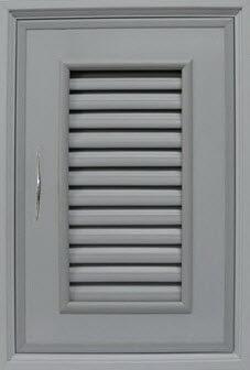 บานซิงค์เดี่ยว PVC - Classic สีเทา