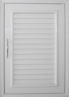 บานซิงค์เดี่ยว PVC - Classic สีขาว