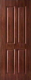 ประตู UPVC - Polywood (โพลีวูด) Revo Series LPNR-005 บานทึบ สีเรดเชอร์รี่